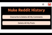 Delete posts on reddit