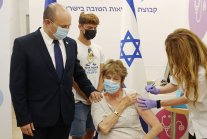Izrael: 85-90% of hospital patients fully vaccinated