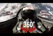 360° cockpit view | Fighter Jet | Patrouille Suisse