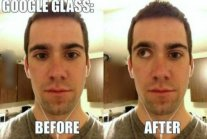 Google Glass przed i po :D