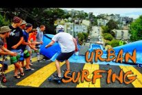 Urban Surfing down streets of San Francisco