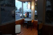Homeless Man Destroys McDonalds Then Waits For The Police To Arrive