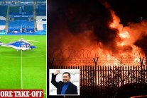 Leicester City owner's helicopter crashes 'with him aboard'
