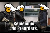 Remember, no preorders.