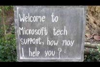 Welcome to Microsoft tech support