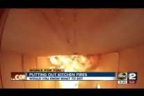 Putting out kitchen grease fires