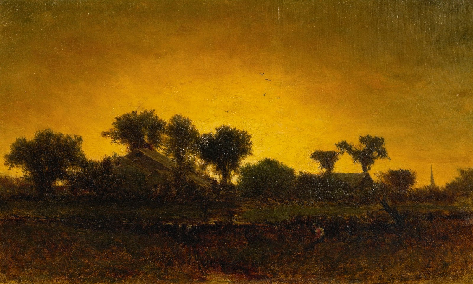 george inness early moonrise - 1000×602