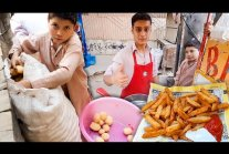 Hardworking Afghani Younger Brother Selling French Fries | OPTP,...