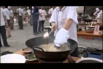 China cooking on live stream.