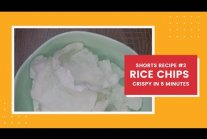 5 Minutes Crispy Rice Chips! Shorts Recipe #2
