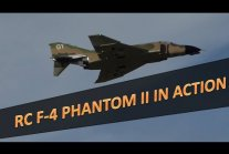 RC F-4 Phantom II in action