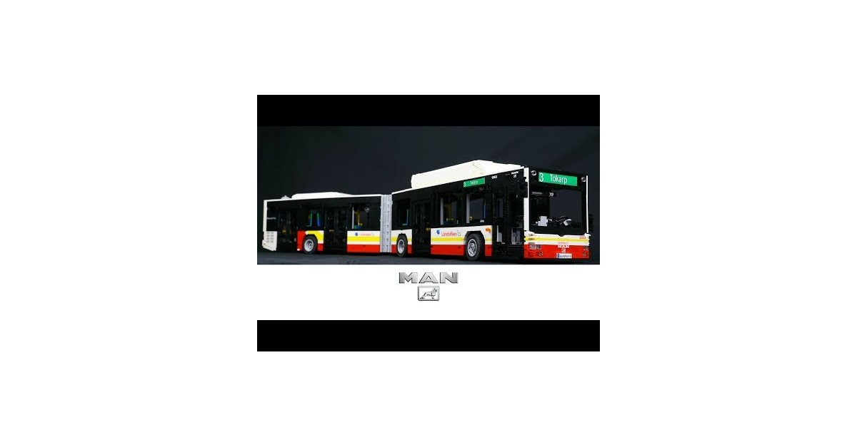 lego technic man lion 39 s city articulated bus. Black Bedroom Furniture Sets. Home Design Ideas
