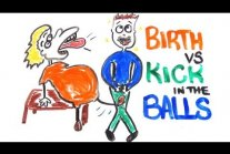 Childbirth vs Getting Kicked in the Balls
