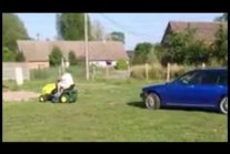 Funny towing a car