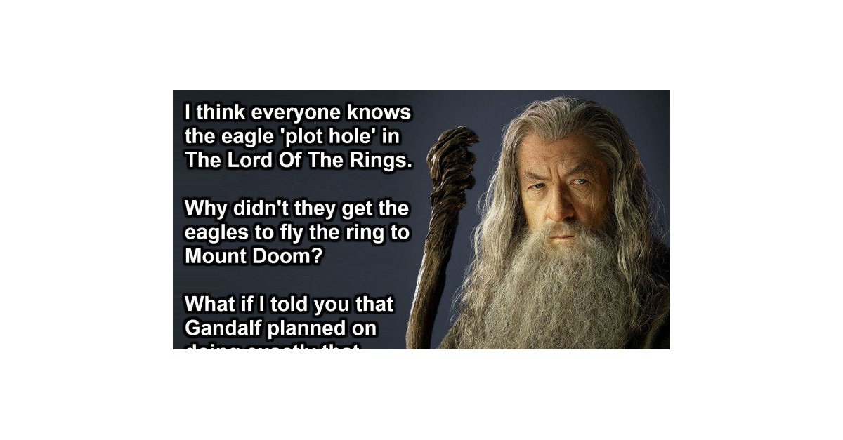 Lord Of The Rings Why Didn T They Fly