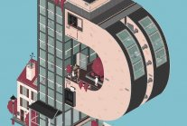 Charmingly animated architectural typography