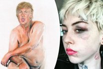 Artist who painted NUDE Donald Trump for UK exhibition BEATEN UP after...