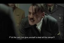"Hitler finds out about ""polish death camps"""