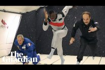 Usain Bolt floats to victory in zero-gravity