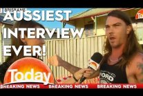 Aussiest. Interview. Ever. What a...